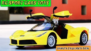 FERRARI CARS RC TOYS  UNBOXING & REVIEW |opening doors | TOYS CARS  | VIDEO FOR KIDS| RC SPORTS CARS