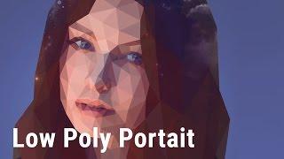 Крутой низкополигональный портрет (Low Poly Portait in Photoshop)
