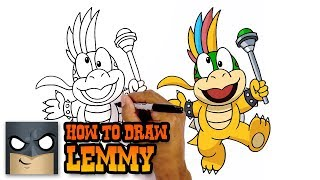 How to Draw Lemmy | Super Mario | Awesome Step-by-Step Tutorial