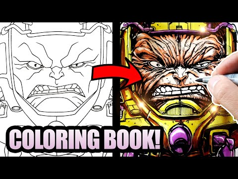 OFFICIAL MARVEL ARTIST Inks And COLORS A CHILDREN'S COLORING BOOK!