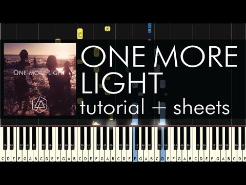 Linkin Park - One More Light - Piano Tutorial - Piano Cover + Sheets