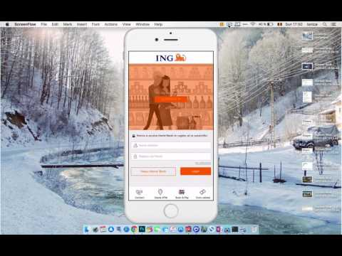 NU se înregistrează dispozitivul în ING Homebank la accesare folosind parola rapidă.