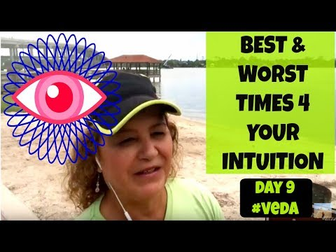 BEST & WORST Times for INTUITION ??? Day 9 #VEDA