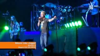 Maroon 5 - Moves Like Jagger - Live Bogotá 03/03/2016