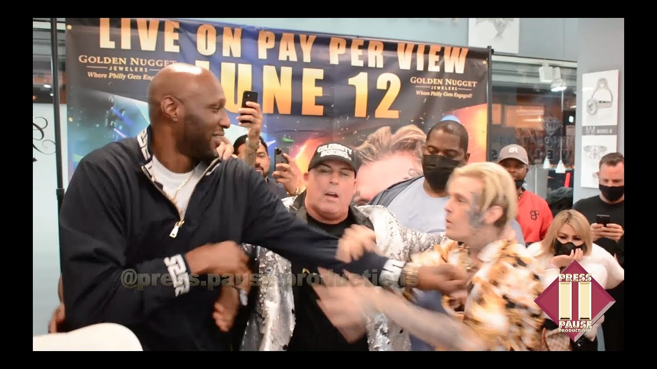Download Lamar Odom and Aaron Carter Have a Heated Confrontation During Philly Press Conference