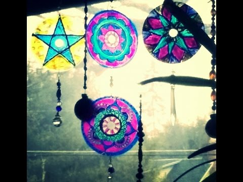 DIY-CD Mandala Suncatcher