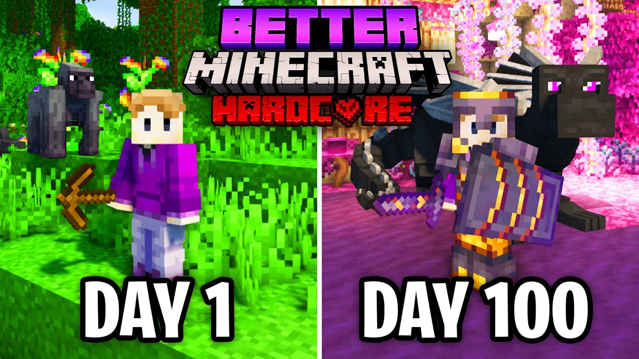 I Survived 100 Days in Better Minecraft Hardcore Heres What Happened