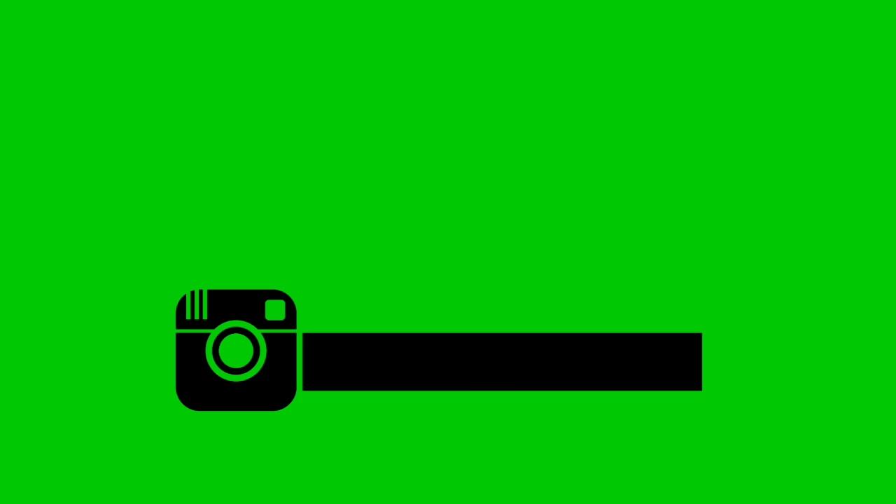 Instagram Black Logo Green Screen Hd Youtube