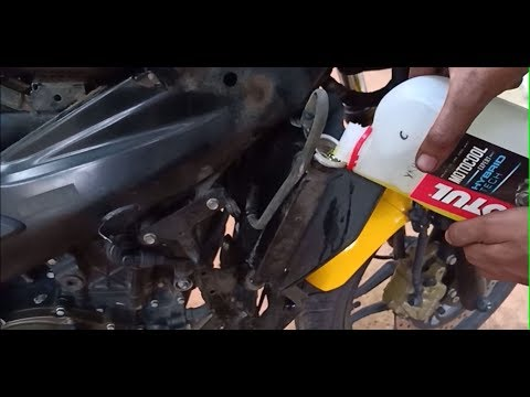 Motul COOLANT and Air filter change for Pulsar RS 200 and Cleaning Spark Plugs. (DETAILED)