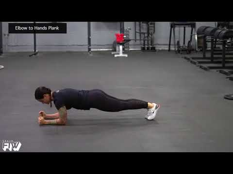 Elbow to Hands Plank