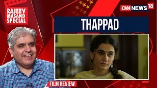 Thappad Movie Review By Rajeev Masand | CNN News18