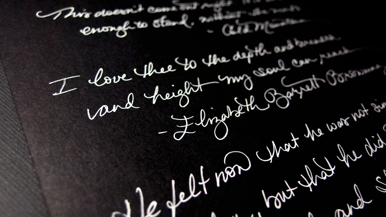 Gel Pens for Writing On Black Paper