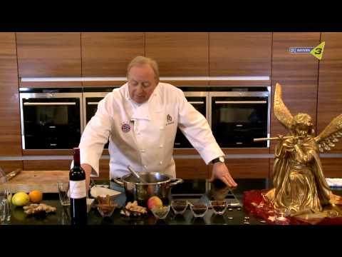 Alfons Schuhbeck macht Glühwein
