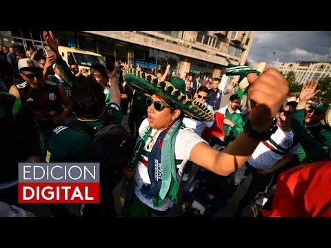 Familias mexicanas apoyan a la selección de fútbol y disfrutan el Mundial en Rusia
