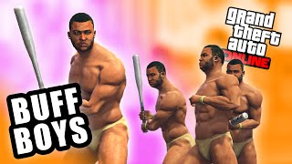 GTA 5 Online - BUFF BOYS BAT BRAWL (Funny Moments)