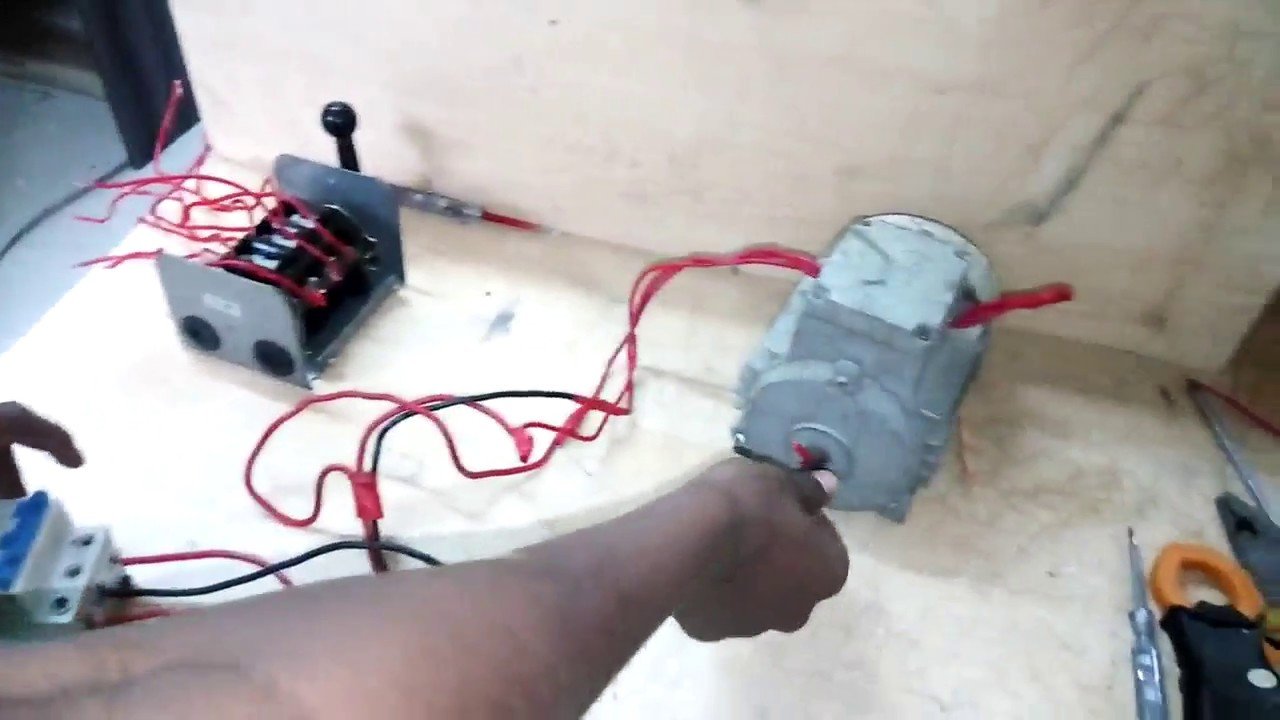 Three Phase Motor Reverse Forward Connection By Change Over Switch Salzer Drum Switches Wiring Diagram Reversing