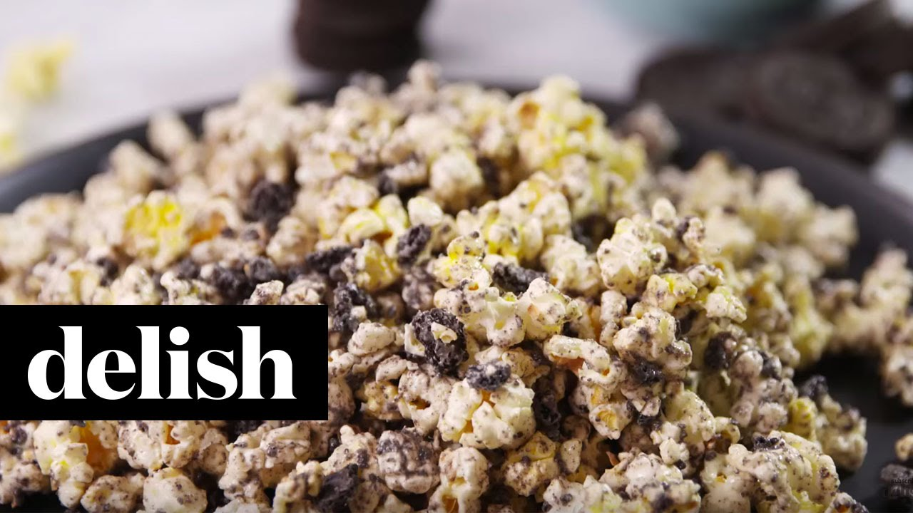 How To Make Oreo Cookies & Cream Popcorn  Delish