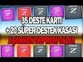 35 Deste kartı + 20 Süper destek kasası açtık! (Video çekerken deprem oldu)