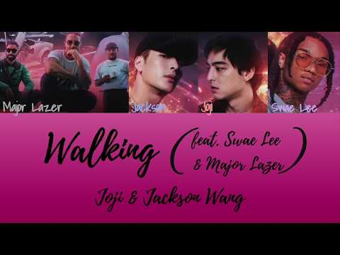 Joji & Jackson Wang - Walking (feat. Swae Lee & Major Lazer) [Color Coded Lyrics]