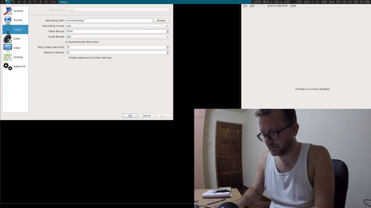 Screencasting from Archlinux gotchas