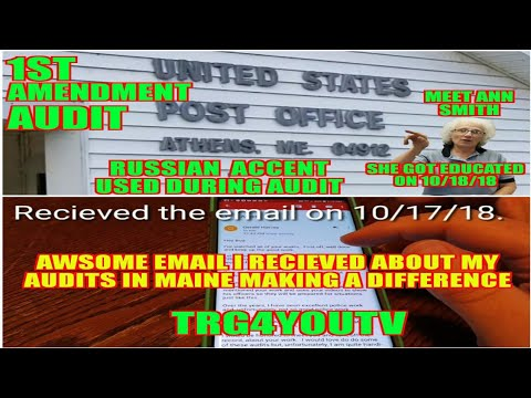 Awsome email about auditing and 1st Amendment Audit Athens Post Office Russian Accent