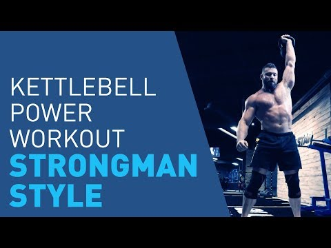 Strongman Kettlebell Workout To Build Ripped Muscle & Power thumbnail