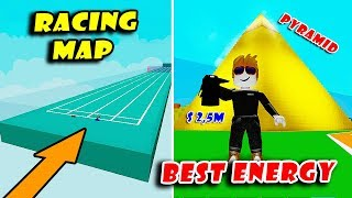 New RACING Map & Golden PYRAMID Update! Buying The Best ENERGY DRINK | Speed Simulator X! [Roblox]