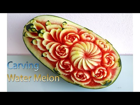 WATERMELON CARVING | carving fruits | By BÀN TAY ĐEN #carving #watermelon