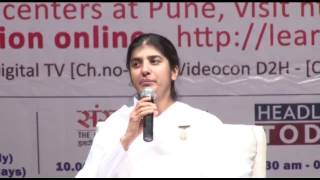 Celebrating life with Happiness- BK Shivani talk at Bal Gandharwa, Pune