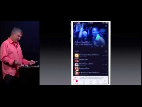 Apple Music Demo at WWDC 2015
