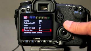 Canon 50D - Setting the review time