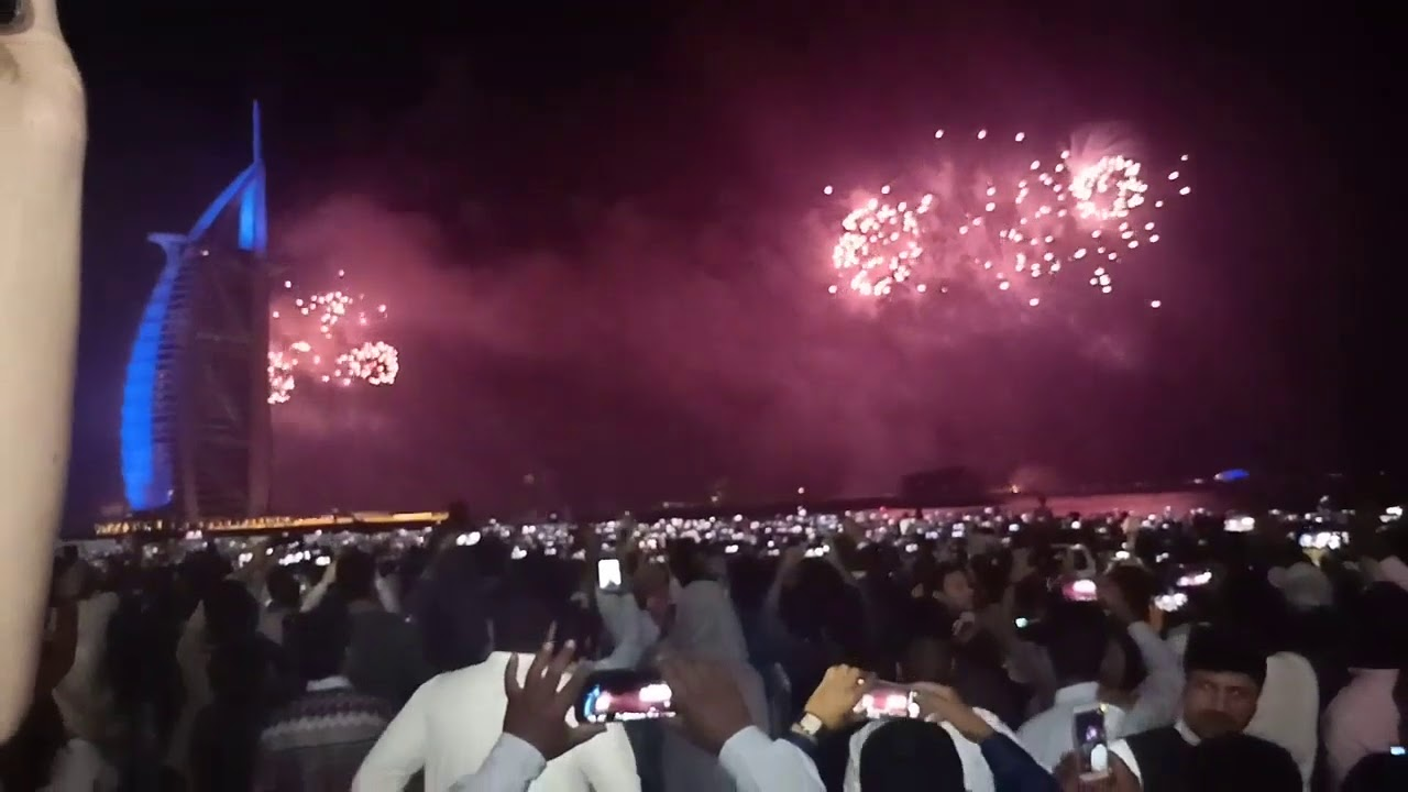 Burj Al Arab Dubai New Year Fire Works 2019