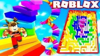 ROBLOX EASIEST RAINBOW OBBY EVER?! *WORLD RECORD*