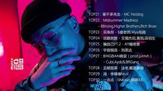 【中文说唱TOP50排行榜】TOP21—TOP30合辑(2019年4月10日更新)2019中国说唱音乐 | 最火嘻哈音乐 | 饶舌歌曲 | China   Rap | 说唱排行榜 | 音乐排行榜