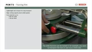 Features of: PCM 7 S Compound Sliding Mitre Saw