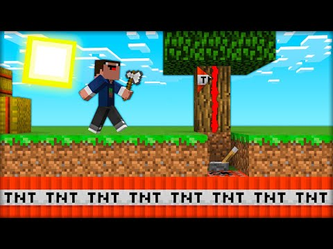 СПРЯТАЛ ЛОВУШКУ В ДЕРЕВЕ И ЗАТРОЛЛИЛ ДРУГА в МАЙНКРАФТ 100% троллинг ловушка Minecraft