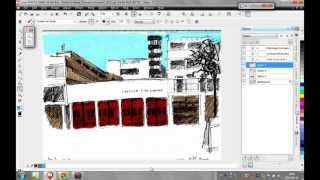 Corel Photo-Paint, how to Color a scanned drawing