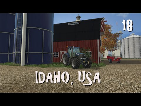 FS 2015 Idaho, USA Ep 18 | We seed corn, spray herbicide and unload a manure bunker.