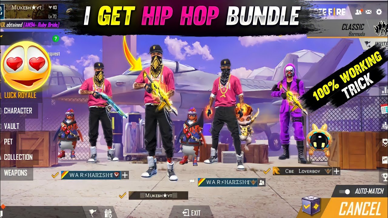 Download Top 5 Unknown Tricks in free fire    HIP HOP Free for all 100% working Trick    free fire tricks