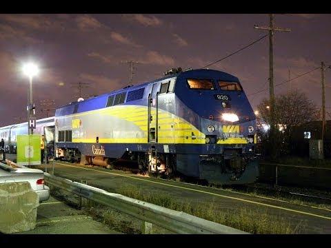 HD CN,CP,VIA & AMT trains at Dorval,PQ on 11/14/2013