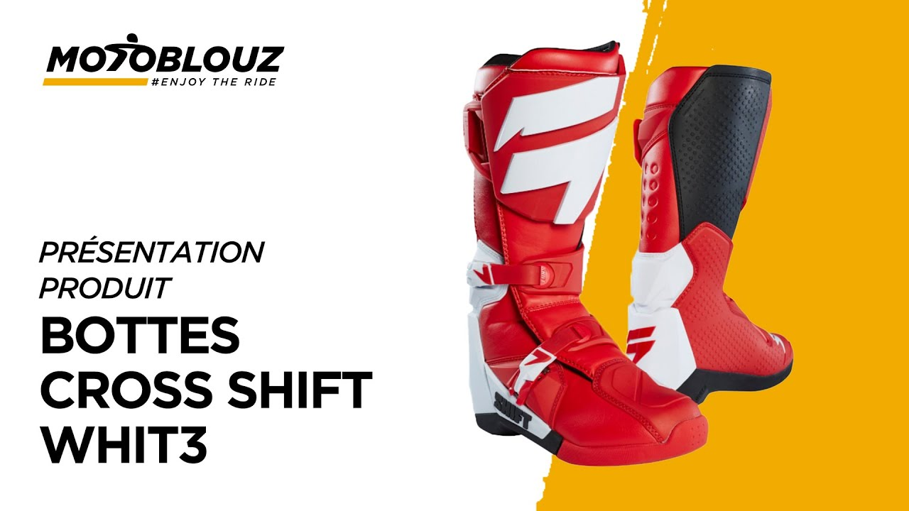 vidéo Motoblouz par Bottes Shift Whit3avis en cross D29IHWE