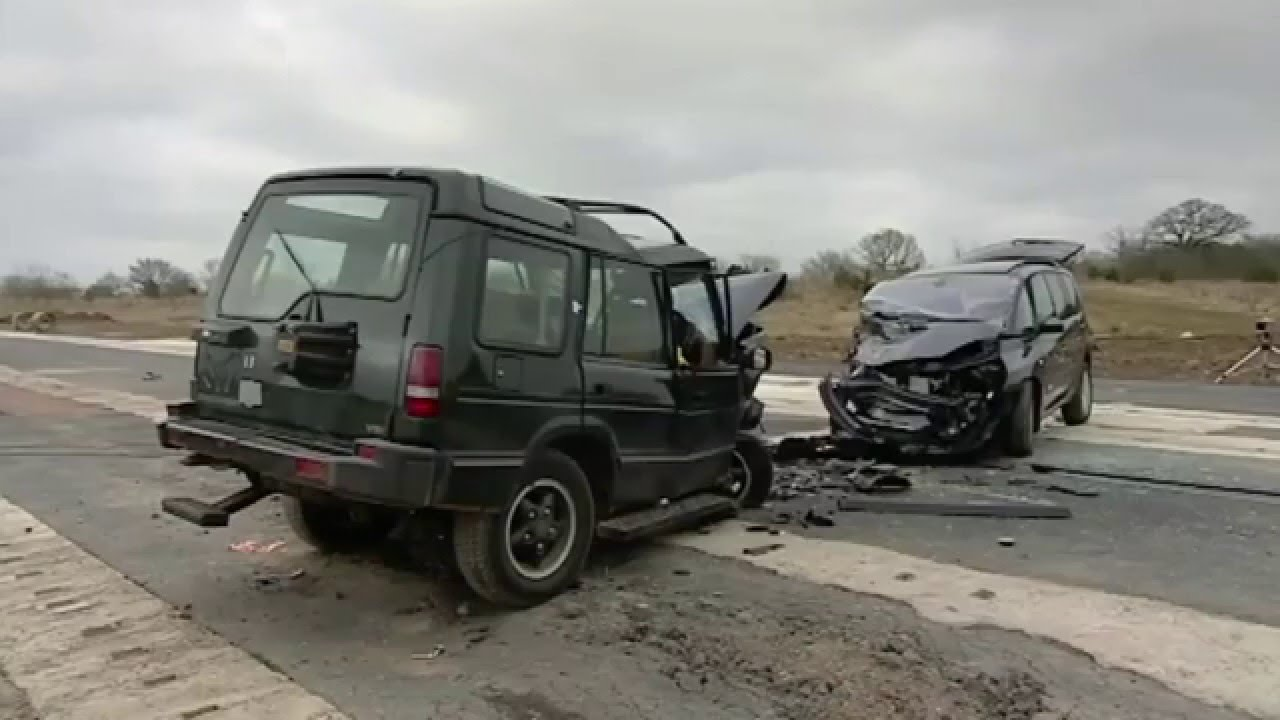Fifth Gear Crash Test Land Rover Discovery Vs Renault