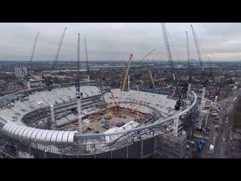 Tottenham Hotspur New stadium 360 Birds Eye View 22/12/17