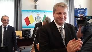 Proclamazione del sindaco di Termoli Francesco Roberti