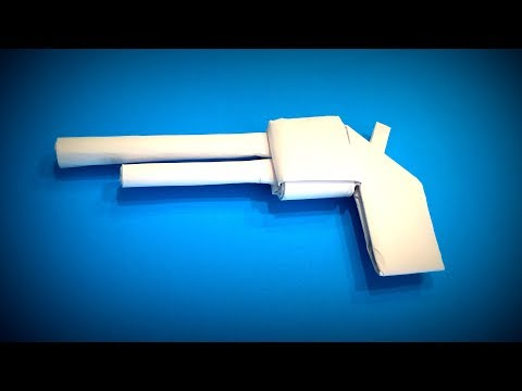 Origami Gun | How to Make a Paper Gun (Paper Pistol) DIY | Easy Origami ART | Paper Crafts