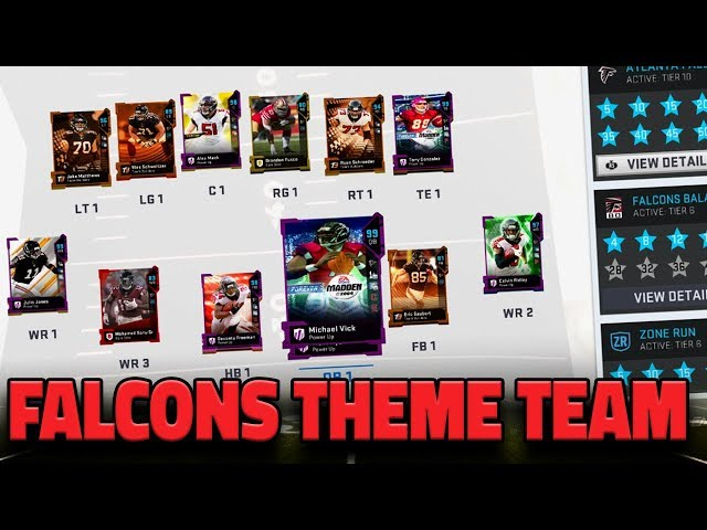 ATLANTA FALCONS THEME TEAM  UPDATE (2/17) IN MADDEN 19 ULTIMATE TEAM