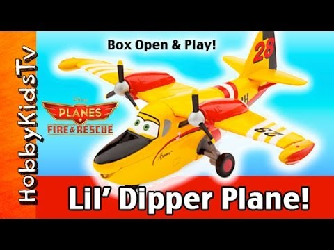 NEW Disney Planes Fire Rescue Little DIPPER! Play with HobbyKid Die-cast Toy Review by HobbyKidsTV
