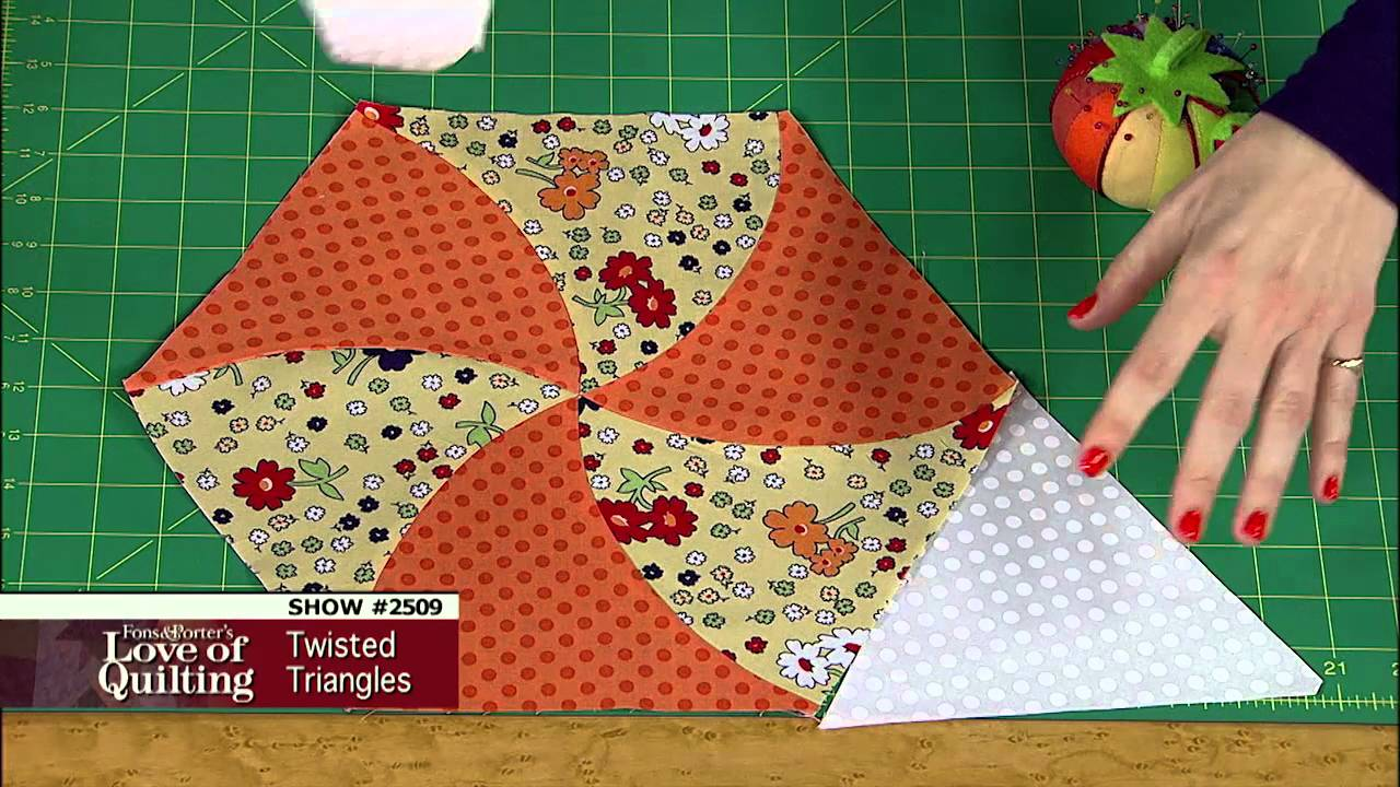 Love Of Quilting Preview Twisted Triangle Quilt Tutorial Twisted