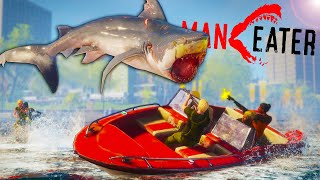 I Became an EVIL SHARK & I Hunted Bounty Hunters in Maneater Gameplay!