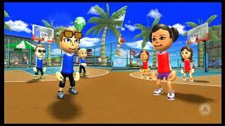Wii Sports Resort - Basketball: Pickup Game (Skill Level 0 - Champion)